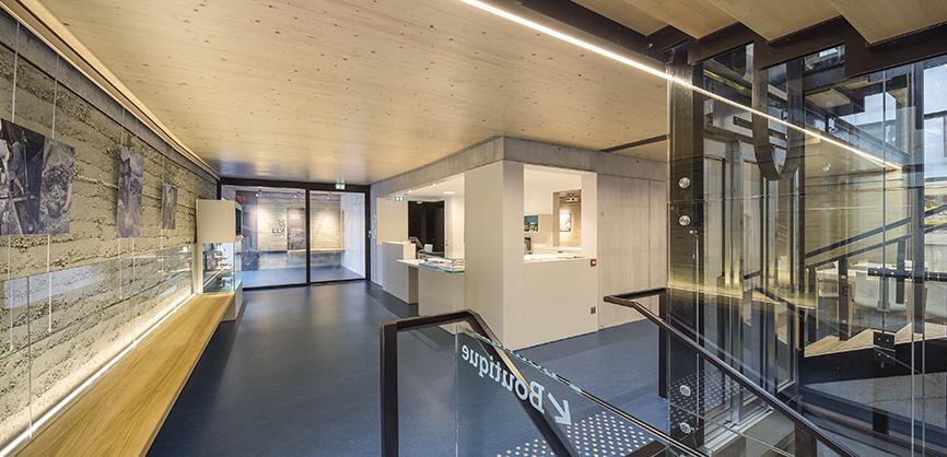 Vue de l'accueil du CIP La Villa, musée archéologique à Dehlingen